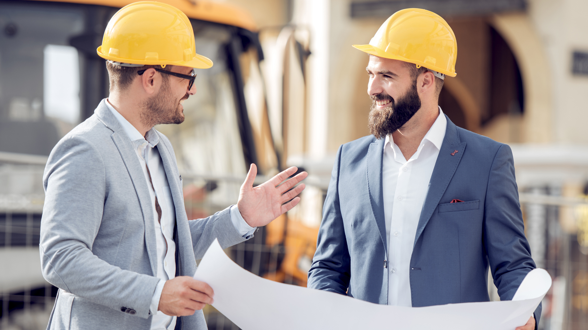 Two men planning